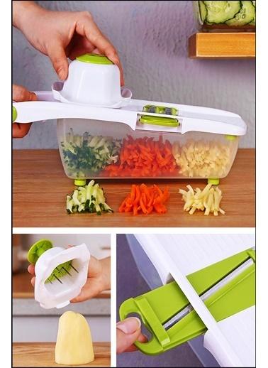 Kitchen Love Hazneli 8 Bıçaklı/11Parça Lüks Rende Set Renkli